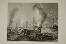 Bataille navale de NAVARIN (1827) guerre d'indépendance grecque, gravure 19°
