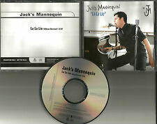 Something Corporate JACK'S MANNEQUIN La lie PROMO DJ CD single 2005 w/TOUR DATES