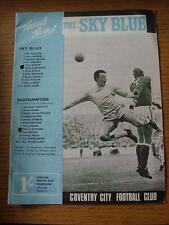 05/09/1967 Coventry City v Southampton  (Creased, Fold, Punched Holes)
