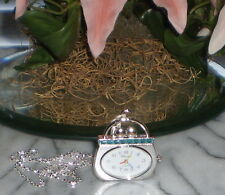 """~~ONE (1) PURSE SHAPPED DESIGN NECKLACE WATCH W/22"""" CHAIN ~ IMMEDIATE SHIPPING!"""