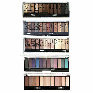 Technic Mega Eyeshadow Palette, 12 Shade Matte Nude Brown Natural Sultry Smokey