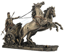 Achilles On The Two-Horse Chariot Figurine Statue Sculpture - GIFT BOXED