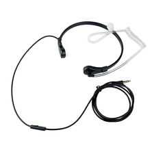1 Pin 3.5mm Throat MIC Earpiece Covert Air Tube Earpiece For IPHONE Samsung HTC