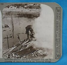 WW1 Stereoview Stretcher Bearers Wounded Thiepval Ridge Somme Realistic Travels