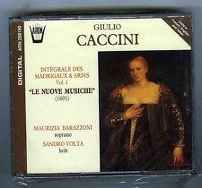 GIULIO CACCINI  BOX SET 2 CDS (NEW) LE NUOVE MUSICHE VOL 1 MAURIZIA BARAZZONI