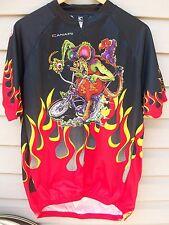 Canari Ed Roth Rat Fink Bicycle Bike Cycling Jersey Shirt Eyeballs Flames Men Md