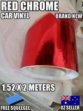OZ Red Chrome Car Vinyl Wrap,Roll,Sticker 1520mm X 2000 mm,Squeege,Brand New
