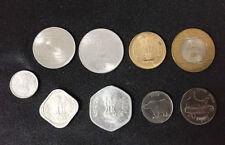 INDIA SET 9 COINS 5 10 10 20 25 50 PAISE 1 2 5 10 RUPEE AUNC
