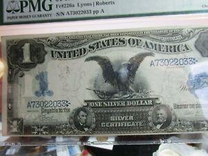 FANTASTIC 1899 BLACK EAGLE  $1  PMG  64 SILVER CERTIFICATE CHIOCE UNC  PERFECT