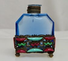 Vintage Czech Jeweled Perfume Scent Bottle  -  80380