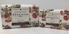2 Beekman 1802 Goat Milk Soap Morning Glory 9 & 3.5 oz MacKenzie Childs Body Bar