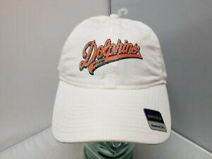 Miami Dolphins NFL Reebok Adult Women's White Curved Brim Cap/Hat OSFM