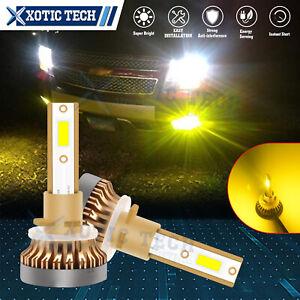 Pair of 880 881 899 LED Fog Driving Light Bulb Conversion Kit Golden Yellow Lamp