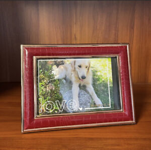 Photo Frame 4x6 Red Maroom Leather