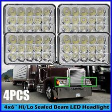 """4""""x6"""" LED Headlights Hi/Low Beam 2Pairs For FREIGHTLINER FLD 120 112 Classic"""