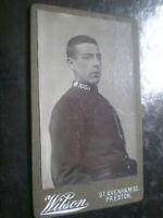 Cdv old photograph policeman by Wilson at Preston c1890s