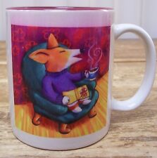 Coffee Drinking Fox Dog Coffee Mug Cup Joanne Kollman Art 2005