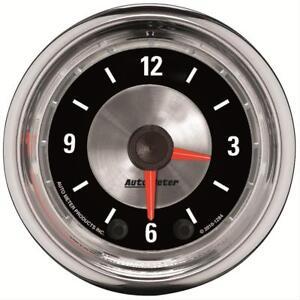 "AutoMeter 1284 2-1/16"" American Muscle Clock Gauge, 12 Hour"