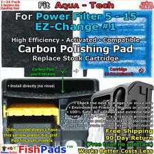For Aqua Tech 5-15 Power Filter EZ Change No. 1 Cartridge Compatible Carbon Pads