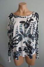 Thakoon USA Batwing Sleeve Scoop Neck Longer Back Floral Oversize Top sz XS