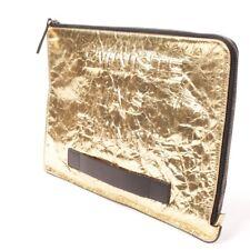 CHANEL Clutch Gold Damen Tasche Bag Sac Abendtasche Leder Leather Pochette