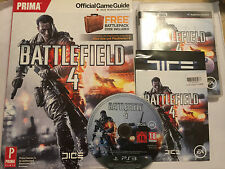 Sony PLAYSTATION 3 PS3 Gioco Battlefield 4 IV + prima Guida Ufficiale strategia