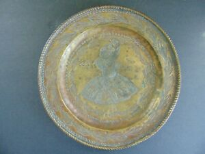 c.1471 ANTIQUE BRASS VENETIAN ALMS PLATE w LIKENESS of DOGE OF VENICE Dated 1471