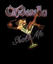 CINDERELLA cd lgo Night Songs SHAKE ME Official Black SHIRT Size LRG new