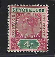 1890 Seychelles Scott #4a (SG #2) - 4c Queen Victoria Die I - Used