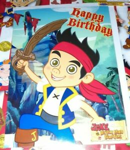 Jake and the neverland pirates Wrapping Paper, tag & Birthday Card Bundle DISNEY