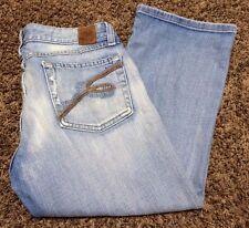 BKE capri womens jeans med. wash size 29