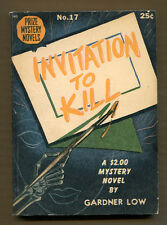 INVITATION TO KILL by Gardner Low - 1945 Prize Mystery Novels #17