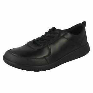 Clarks Boys Formal School Shoes Scape Street Y