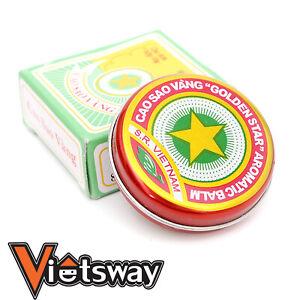 Golden Star Aromatic Balm Vietnamese Cao Sao Vang Ointment Cream 10 Grams Large