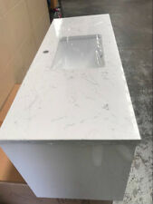 1200mm x 460mm Stone Top with undermount basin Wall Hung Vanity/ White