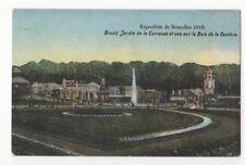 Exposition de Bruxelles 1910 Grand Jardin de la Terrasse Postcard Us086