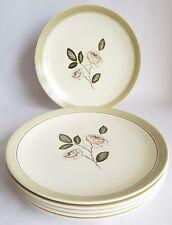 Vintage Crown Devon 'Rose Design' Dessert Plates x 6