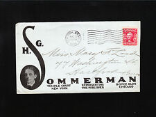 HG Sommerman Publisher Agent NY & Chicago NYC 1906 Station E Advertising Cover Á