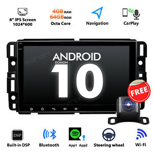 """CAM+8"""" For Chevy Suburban Android 10 4+64G Car Audio In-Dash Units GPS Octa-Core"""