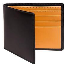 Ettinger Men's Bridle Hide Billfold Wallet with 6 Credit Card Slips Black/Tan
