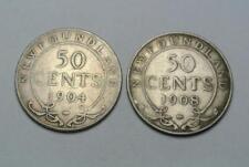 Canada Newfoundland 50 Cent VG 1904, Fine 1908 - C6880