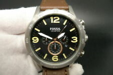 NEW OLD STOCK FOSSIL NATE JR1475 CHRONOGRAPH DATE LEATHER STRAP QUARTZ MEN WATCH