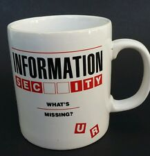 "Information Security ""What's Missing?""  Metropolitan life Company Coffee tea mug"