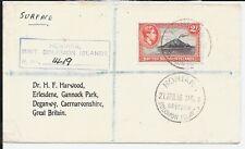 BRITISH SOLOMON KG6 2/- 1956 COVER