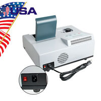 US Visible UV Lab Digital Spectrophotometer 721 LDC 350-1020nm Tungsten Lamp FDA
