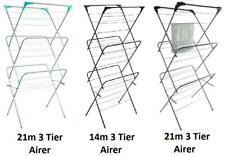 Clothes Airer 3 Tier Laundry Dryer Winged Folding In & Outdoor Horse Drying Rack