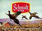 """SCHMIDT BEER PHEASANT SCENE 9"""" x 12"""" METAL SIGN"""