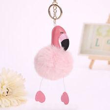 Flamingo Keychain Keyring Key Chain Ring Bag Charm Pendant Adorable Key Ring