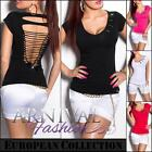 SEXY LADIES SHORT SLEEVE FASHION TOP sz XS S M L WOMENS CASUAL T SHIRT BLOUSE AU