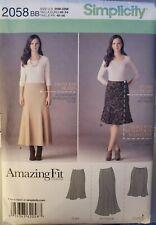 Simplicity Amazing Fit pattern 2058 Women's Skirt sz 20W,22W, 24W, 26W,28W uncut